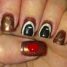 Lazy Lacquerista: Rudolph the Revlon Red Nosed Reindeer
