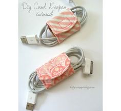 cord keepers from scrap fabric
