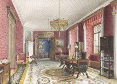 Late 19th Century rendering of interior design