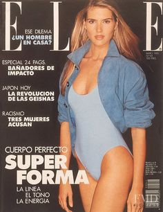 Judit Mascó featured on the Elle Spain cover from May 1990