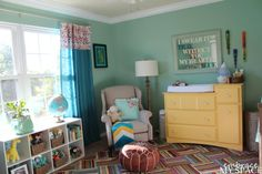 Colorful Aqua Gender Neutral Nursery - Project Nursery