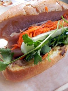 Pork Roll and Pate Banh Mi from Magasin Vietnamese Cafe by nolafoodporn.tumblr.com