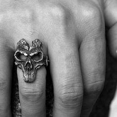 Mask of Ares ring 925 Sterling silver Vanguard skull rings SSJ191