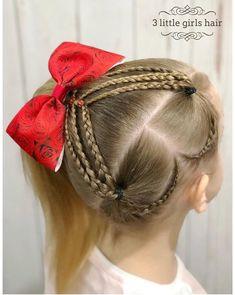 Baby Girl Hairstyles, Trendy Hairstyles, Braided Hairstyles, Medium Hair Styles, Curly Hair Styles, Girl Hair Dos, Heart Hair, Girls Braids, Toddler Hair