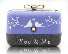 Hey, I found this really awesome Etsy listing at https://www.etsy.com/listing/104426627/love-bird-wool-embroidered-box-clutch