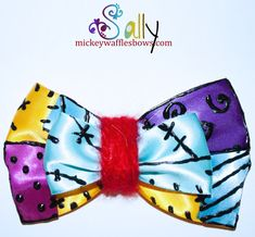 Sally Hair Bow by MickeyWaffles on Etsy