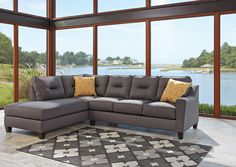 Kirwin Nuvella Gray Left Facing Corner Chaise Sectional