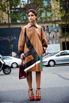 Miroslava Duma attends the Balmain show as part of the Paris Fashion Week Womenswear Spring/Summer 2014