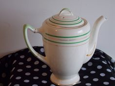 A 1950's Palissy Coffee Pot. by ByGoneEraEmporium on Etsy