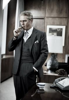 Steve McQueen in 'The Thomas Crown Affair', 1968 https://www.facebook.com/VintagePennyLane