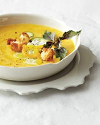 Chilled Peach Soup with Fresh Goat Cheese, Food & Wine - From Jason Franey of Seattle's Canlis. #summer