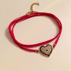 A personal favorite from my Etsy shop https://www.etsy.com/listing/259770145/christmas-giftheart-braceletred