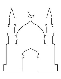 Mosque pattern. Use the printable outline for crafts, creating stencils, scrapbooking, and more. Free PDF template to download and print at http://patternuniverse.com/download/mosque-pattern/
