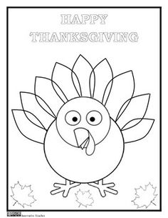 Thanksgiving Coloring Page {FREEBIE} by Innovative Teacher