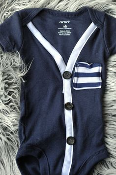 Preppy Cardigan baby boy . one of a kind by littlechunkclothing, $22.00