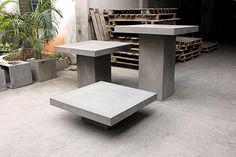 Table basse béton carrée
