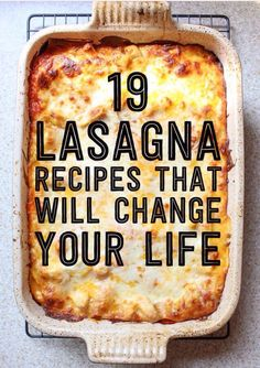 19 Lasagna Recipes That Will Change Your Life✨#Recipes#Trusper#Tip