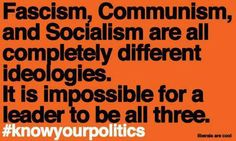 Three completely different ideologies