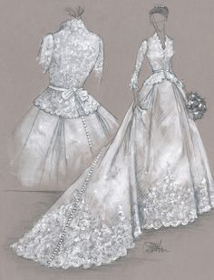 Colette Komm couture illustration