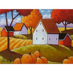 Pumpkins Fields by Cathy Horvath Buchanan
