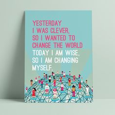 Change the world Change The World, Art Education, Things I Want, Posters, Art Education Lessons, Art Education Resources, Poster, Postres, Movie Posters