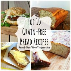 These grain free bread recipes are the best out there for fluffy and flavorful wheat free bread. You'll love these recipes if you are paleo or gluten free! Gluten Free Recipes, Vegetarian Recipes, Healthy Recipes, Healthy Breads, Savory Foods, Healthy Food, Healthy Eating, Whole Food Recipes, Cooking Recipes