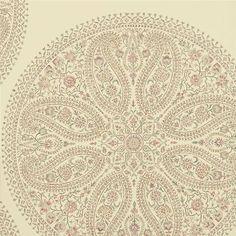 Mauve / Rose - DCAVPC104 - Paisley Circles - Caverley - Sanderson Wallpaper