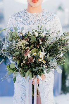 Rustic bridal bouquet. Photo by Peter Herman Photography. www.theweddingnotebook.com