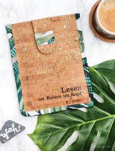 DIY Kindle Hülle aus Korkstoff mit selbst genähtem Schrägband | waseigenes.com