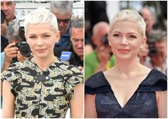 "Résultat de recherche d'images pour ""michelle williams cannes 2017"" Super Short Pixie, Short Sassy Hair, Short Hair Cuts, Short Hair Styles, Pixie Cuts, Pixie Haircut Styles, Pixie Hairstyles, Ftm Haircuts, Michelle Williams Hair"