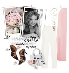 """""""Your Sweet Smile"""" by clotheshawg ❤ liked on Polyvore featuring Malone Souliers"""