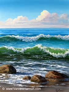 Image result for acrylic ocean paintings