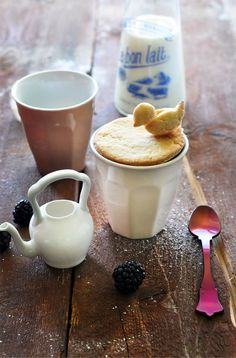 Sweet shortbread biscuit cover for a hot chocolate (shapes made individually and stuck together with caramel) by griottes.fr