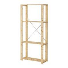 HEJNE 1 secção, madeira conífera - madeira conífera - 78x31x171 cm - IKEA
