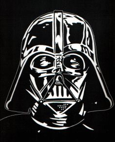 Darth Vader- I might freezer paper stencil this onto a t-shirt or two!