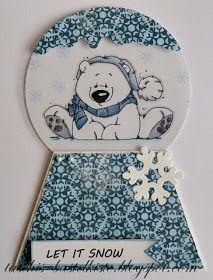 Stempeleinmaleins: Schneekugelkarte - snow globe card