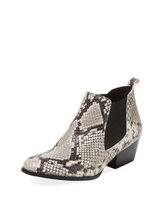 Renvy Embossed Leather Chelsea Bootie