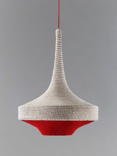 naomi paul : OMI lamps crocheted from textile scraps.