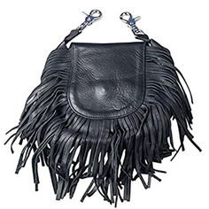 Hot Leathers, LADIES LEATHER CLIP POUCH PURSE with Fringe, Adjustable Strap -- Awesome products selected by Anna Churchill