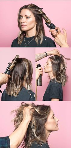 Anh Co Tran's Wavy Bob Styling: Curl hair in 1-inch sections with a 1.5-inch curling iron or wand. The goals is to create loose ringlets without curling roots/ends. Let your curls to cool fully. Blast roots with dry shampoo or texture spray. Slowly layer it in by section. Scrunch/shake out curls to muss the curl patterns. Use a dime-sized amount of styling cream to finger comb your hair back into place. Smooth ends with any leftover product to keep them frizz-free and smooth.