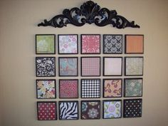 craft ideas with scrapbook paper - They just framed cute pieces of scrapbook paper! And it looks great!