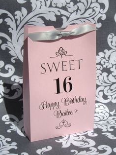 Sweet 16 Favors - 16th Birthday - Sweet 16 Party - Sweet 16 favor Box - Sweet 16 Birthday - Sweet Sixteen - Favor Boxes & Sweet 16 Ideas for a Sweet 16 Cake Topper Sign Banner Balloons ...