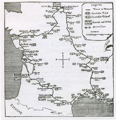 1904 Tour de france route map