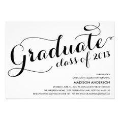 GIRLY GRAD | 2013 GRADUATION PARTY  INVITATION