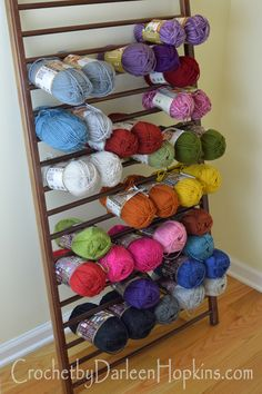 Genial Yarn Storage Out Of Repurposed Crib #CbyDH Yarn Storage, Craft Storage,  Crochet Yarn