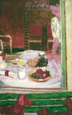 Fruit and Dogs, by Pierre Bonnard, 1926 - Porter Sleit Pierre Bonnard, Edouard Vuillard, Paul Gauguin, Felix Vallotton, Henri Matisse, French Artists, Painting & Drawing, Painting Lessons, Beautiful Paintings