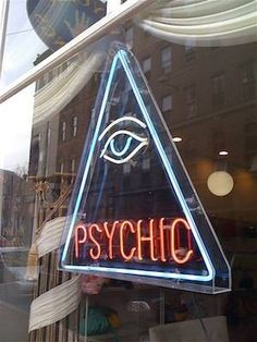 neon psychic advertising sign - http://wanelo.com/p/4016088/miracle-mastery-extreme-physical-psychic-abilities