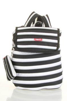 Zip It Backpack In Black & White