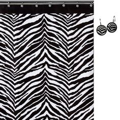 Zebra Print Shower Curtain and Hook Set   Overstock.com Shopping - Great Deals on Shower Curtains