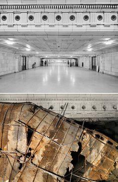 Lower Concourse, Michigan Central RR Depot, Detroit, 1973-2010 | Retronaut